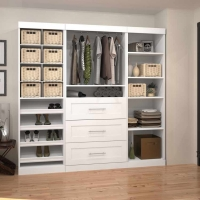 Bestar Pur 86 inch Storage Kit in White 26853-17