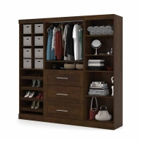 Bestar Pur 86 inch Storage Kit in Chocolate 26853-69