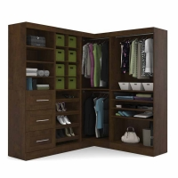 Bestar Pur 82 inch Corner Storage Kit in Chocolate 26854-69