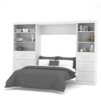 Bestar Pur 120 inch Full Wall Bed Kit in White 26890-17