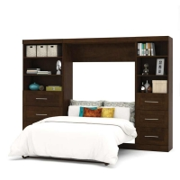 Bestar Pur 120 inch Full Wall Bed Kit in Chocolate 26890-69