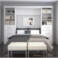 Bestar Pur 109 inch Full Wall Bed Kit in White 26894-17