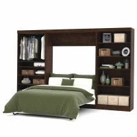 Bestar Pur 131 inch Full Wall Bed Kit in Chocolate 26895-69