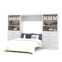 Bestar Pur 131 inch Full Wall Bed Kit in White 26896-17