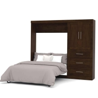 Bestar Pur 95 inch Full Wall Bed Kit in Chocolate 26897-69