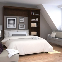 Bestar Pur 84 inch Full Wall Bed Kit in Chocolate 26898-69