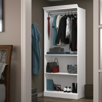 Bestar Versatile 36 inch Closet Storage Shell - White