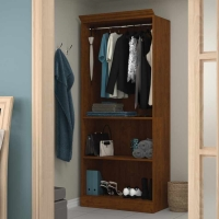 Bestar Versatile 36 inch Closet Storage Shell - Tuscany Brown