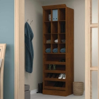 Bestar Versatile 25 inch Cubby Storage in Tuscany Brown