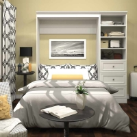 Bestar Versatile 84 inch Full Wall Bed in White 40896-17
