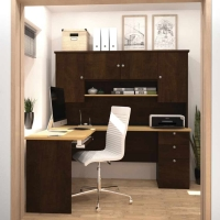 Bestar Manhattan L Shaped Desk in 2 Finishes