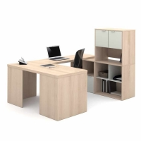 Bestar i3 U Shaped Desk #1 - Northern Maple