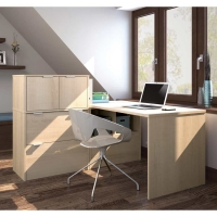 Bestar i3 L-Shaped Desk # 5 - Northern Maple