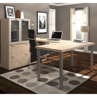 Bestar i3 U Shaped Desk #4 - Northern Maple
