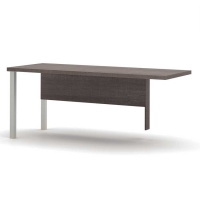 Bestar Pro Linea Return Table with Metal Legs - 3 Colors