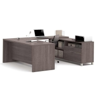 Bestar Pro Linea U-Desk - 3 Colors