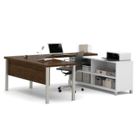 Bestar Pro Linea 2 Tone U-Desk - 2 Options