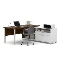 Bestar Pro Linea Two Tone L-Desk - 2 Options