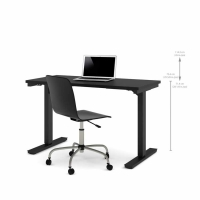 Bestar 24x48 Electric Adjustable Height Table - Black