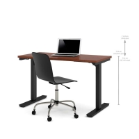 Bestar 24x48 Electric Adjustable Height Table - Bordeaux