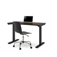Bestar 24x48 Electric Adjustable Height Table - Chocolate