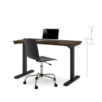 Bestar 24x48 Electric Adjustable Height Table - Tuxedo