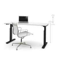 Bestar 30x60 Electric Adjustable Height Table - White