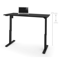 Bestar 30x60 Electric Adjustable Height Table - Black