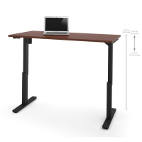 Bestar 30x60 Electric Adjustable Height Table - Bordeaux