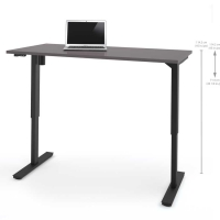Bestar 30x60 Electric Adjustable Height Table - Slate