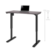 Bestar 24x48 Electric Adjustable Height Table - Slate