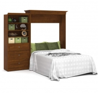Bestar Versatile 101 inch Queen Wall Bed Kit in Tuscany Brown 40885-63