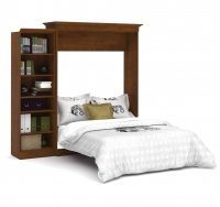 Bestar Versatile 92 inch Queen Wall Bed Kit in Tuscany Brown 40880-63