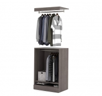 Bestar Nebula 30 inch Base Unit & Bridge in Bark Gray 25165-1147
