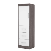Bestar Nebula 25 inch Storage Unit in Bark Gray & White 25871-4717
