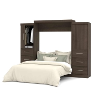 Bestar Nebula 115 inch Queen Wall Bed Kit in Antigua 25884-52