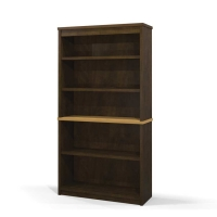 Bestar Hatley Bookcase in Maple & Chocolate