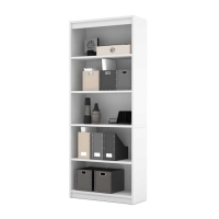 Bestar 5-Shelf Bookcase White