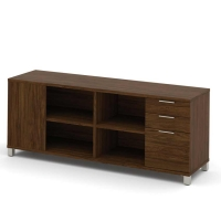 Bestar Pro Linea Credenza with 3 Drawers - 3 Colors