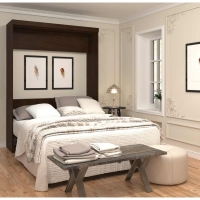Bestar Pur Queen Wall Bed in Chocolate