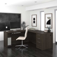 Bestar Embassy 71 inch L-Shaped Desk Kit - 2 Finishes