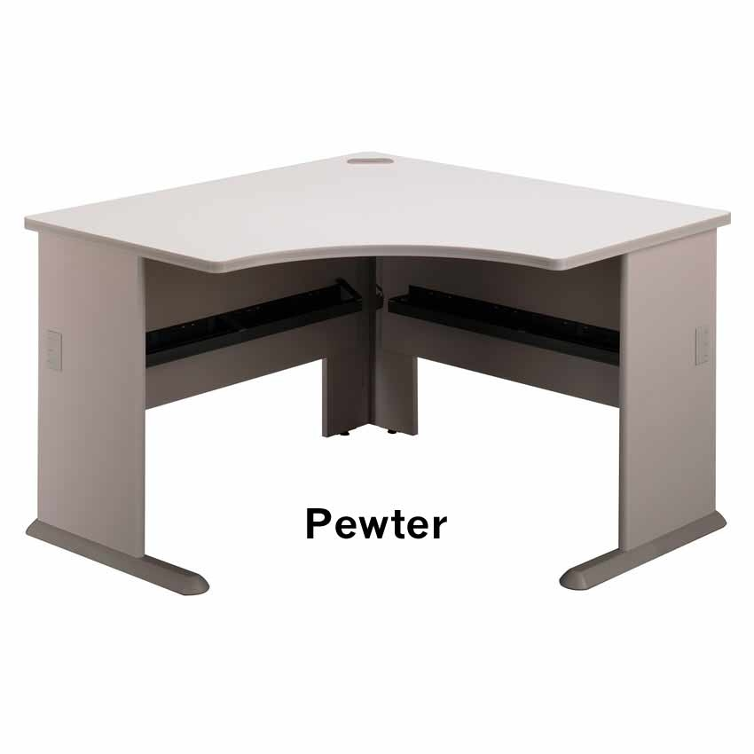 Series A Pewter Corner Desk Wc14566 Bush Furniture