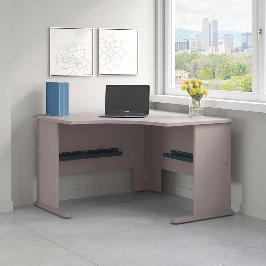 Bush Series A 48W Corner Desk In Pewter