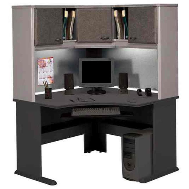 Series a pewter corner desk wc14566 bush furniture - Bush desk assembly instructions ...