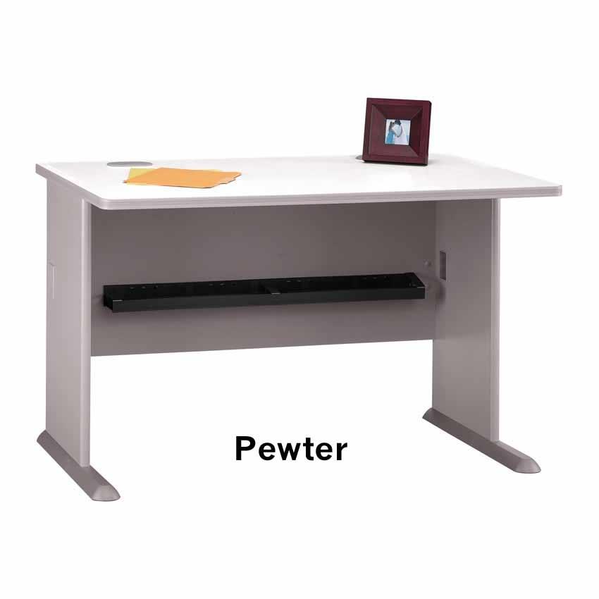 Series a pewter 48 inch desk wc14548 bush furniture - Bush furniture parts ...