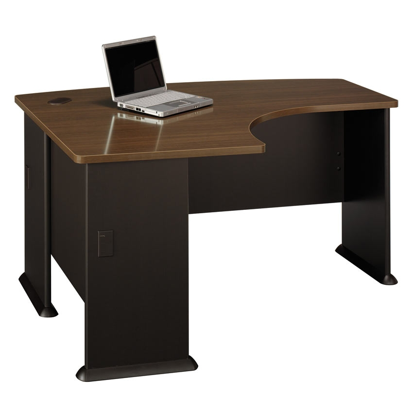 Series A Walnut Left L Bow Desk Wc25333 Bush Furniture