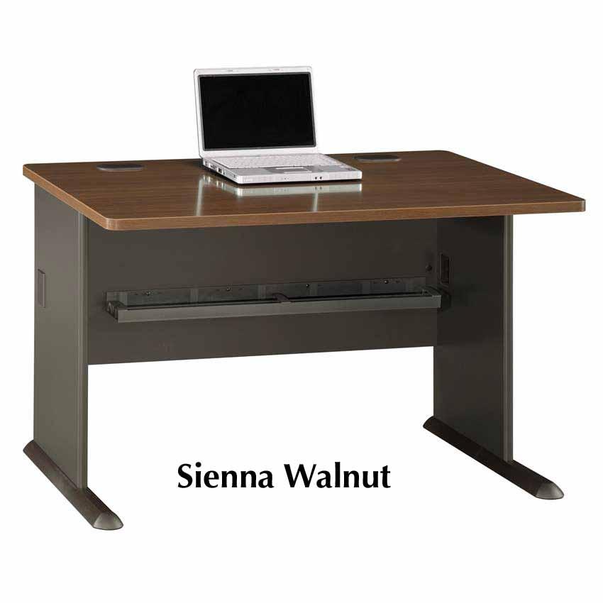 Series A Walnut 48 Inch Desk Wc25548 Bush Furniture