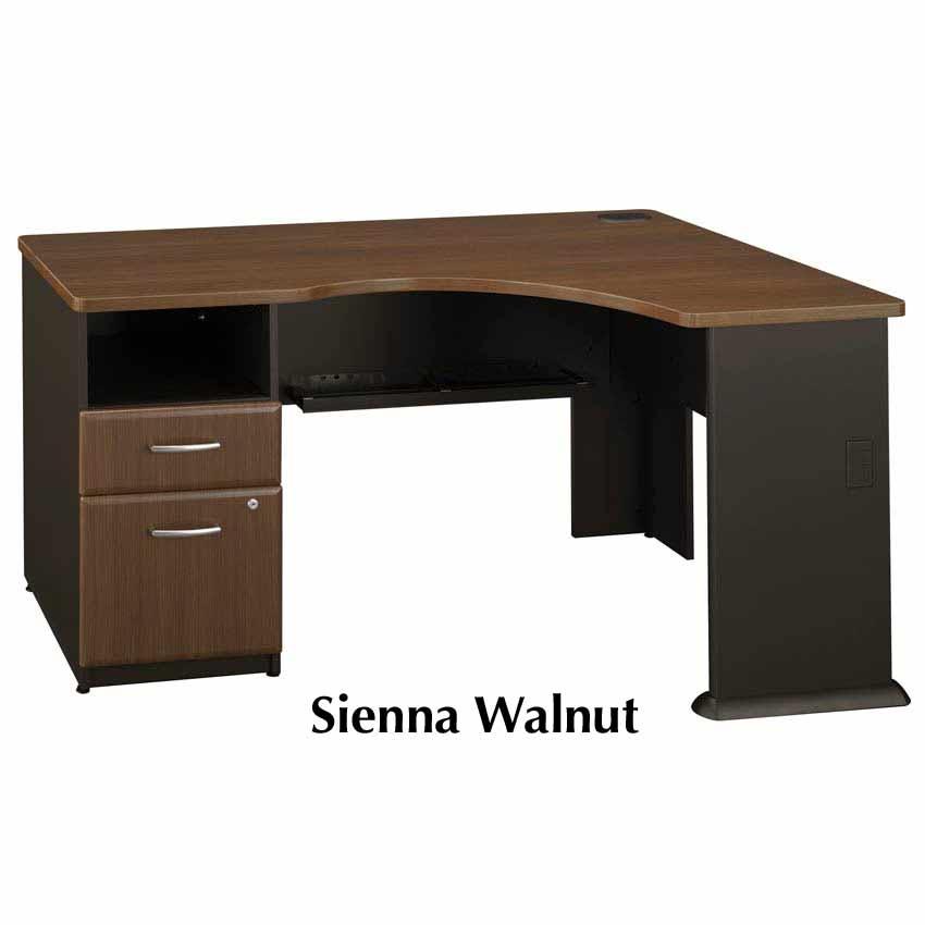 Series A Walnut Expandable Corner Desk Wc25528pa Bush Furniture