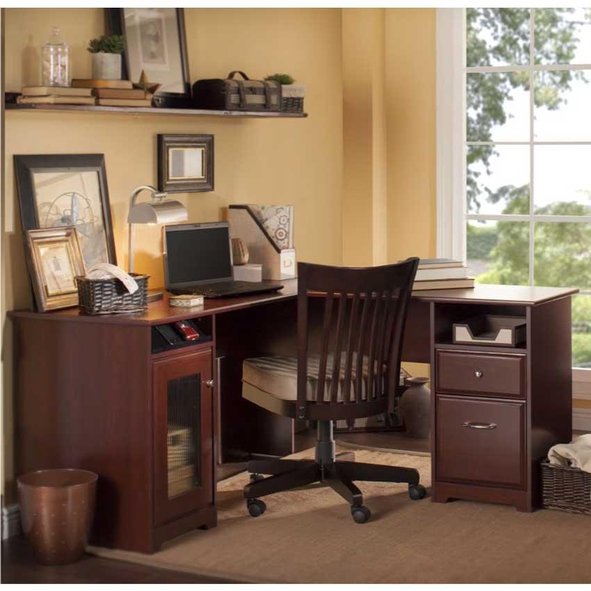 Bush L Desk Part - 42: Bush Cabot 60 Inch L Desk