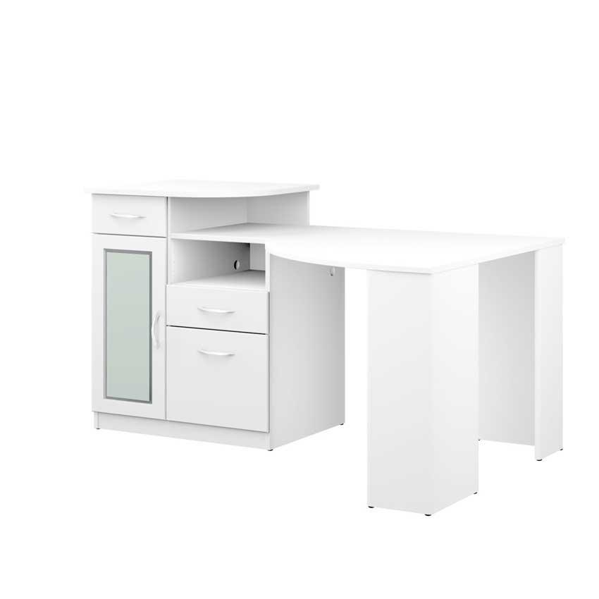 Bush furniture pure white vantage corner desk hm66115a 03 - Bush desk assembly instructions ...